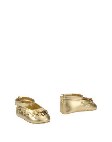 DOLCE & GABBANA Baby Schuhe für Neugeborene Gold Größe 20 100% Lammleder