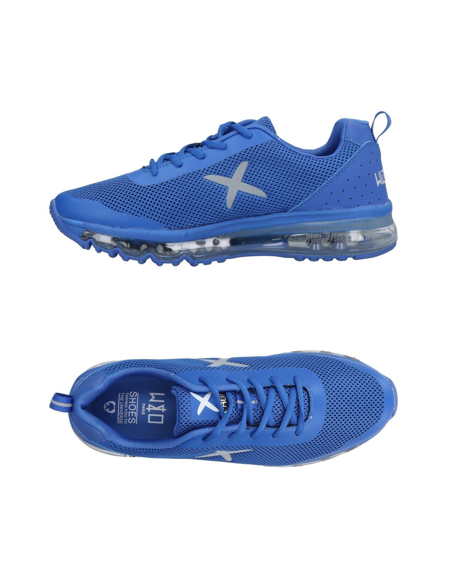 《送料無料》WIZE & OPE メンズ スニーカー&テニスシューズ(ローカット) ブライトブルー 10.5 紡績繊維