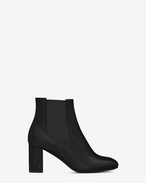 SAINT LAURENT Loulou D Loulou 70 chelsea ankle boot in black leather  f