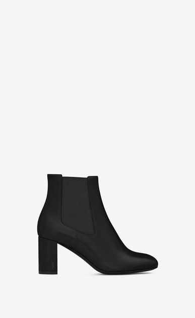 SAINT LAURENT Loulou D Loulou 70 chelsea ankle boot in black leather  a_V4