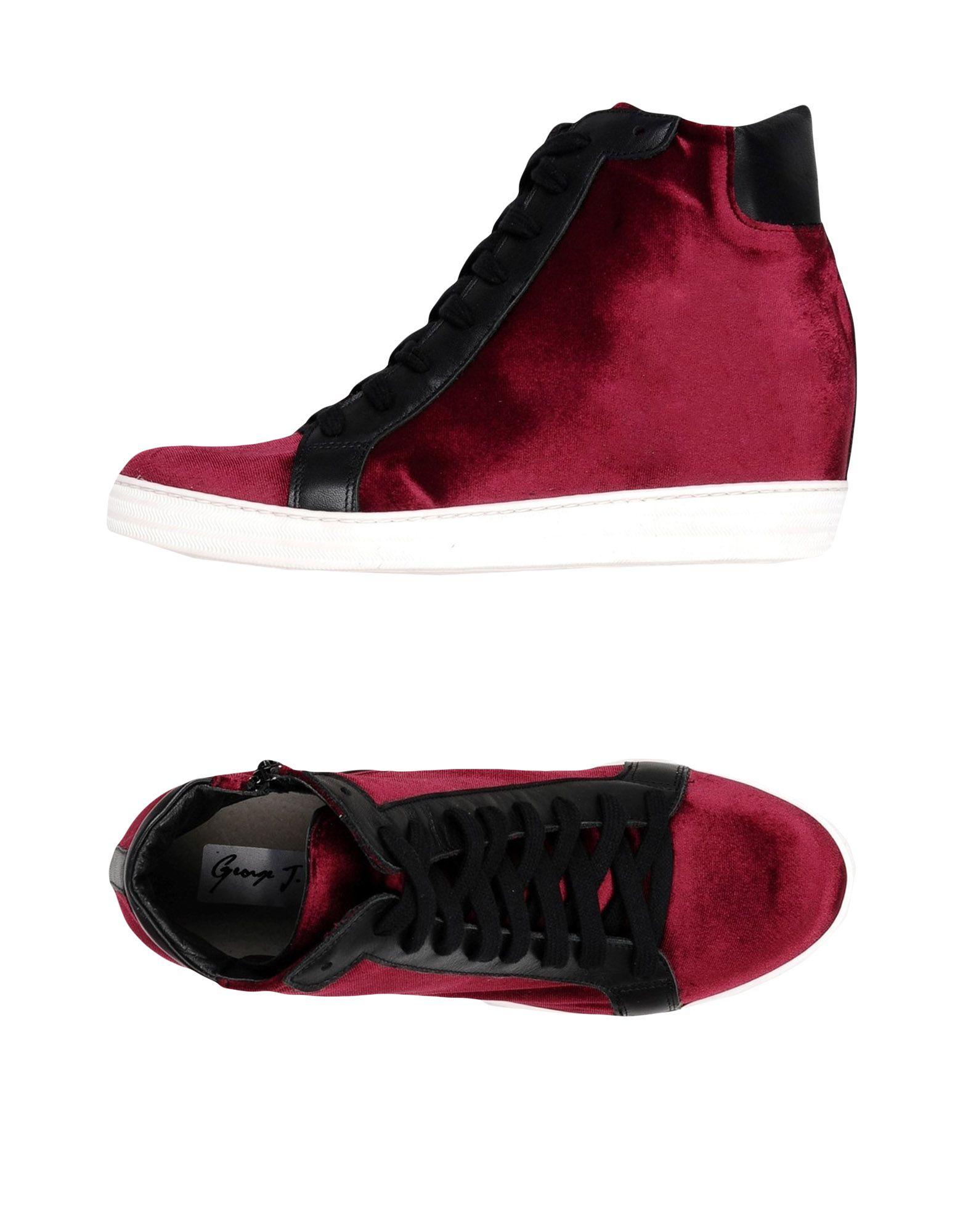 GEORGE J. LOVE Damen High Sneakers & Tennisschuhe Farbe Purpur Größe 11