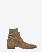 SAINT LAURENT Boots U signature wyatt 30 jodhpur boot in light tabacco suede f