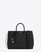SAINT LAURENT Sac De Jour Supple D MEDIUM SAC DE JOUR SOUPLE bag in black grained leather f