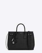 MEDIUM SAC DE JOUR SOUPLE bag in black grained leather