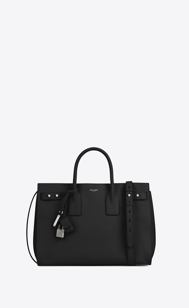 SAINT LAURENT Sac De Jour Supple Woman MEDIUM SAC DE JOUR SOUPLE bag in black grained leather a_V4