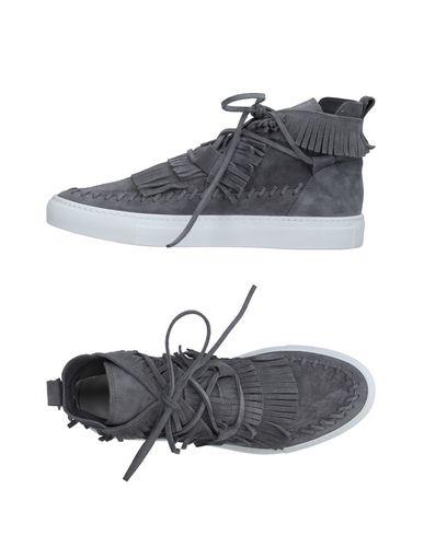 Фото - Высокие кеды и кроссовки серого цвета