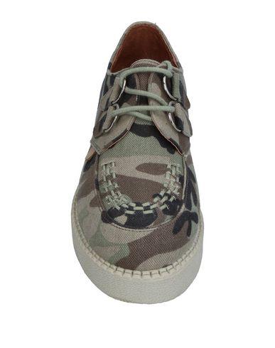Фото 2 - Обувь на шнурках цвет зеленый-милитари