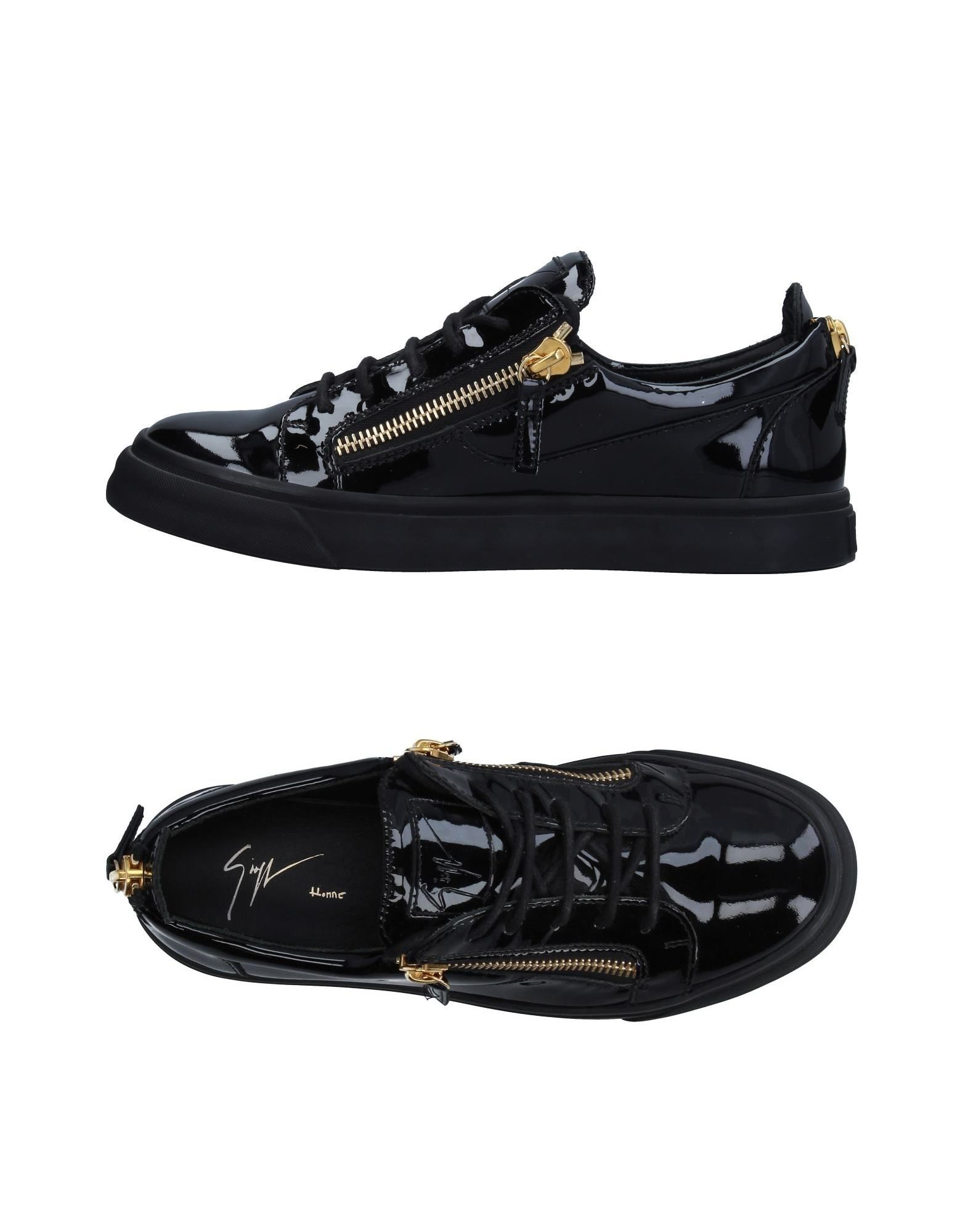 GIUSEPPE ZANOTTI DESIGN Herren Low Sneakers & Tennisschuhe Farbe Schwarz Größe 6
