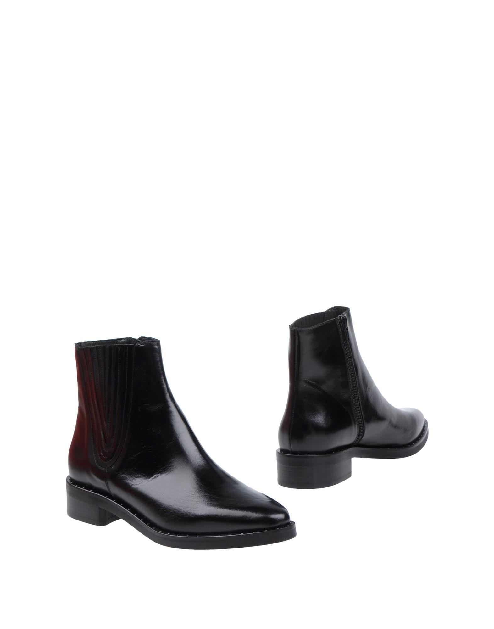 ZINDA レディース ショートブーツ ブラック 35 革 / 紡績繊維