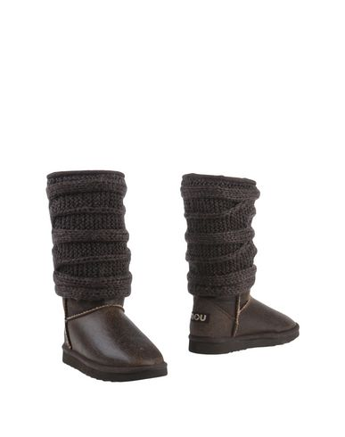 Фото - Женские сапоги MOU темно-коричневого цвета