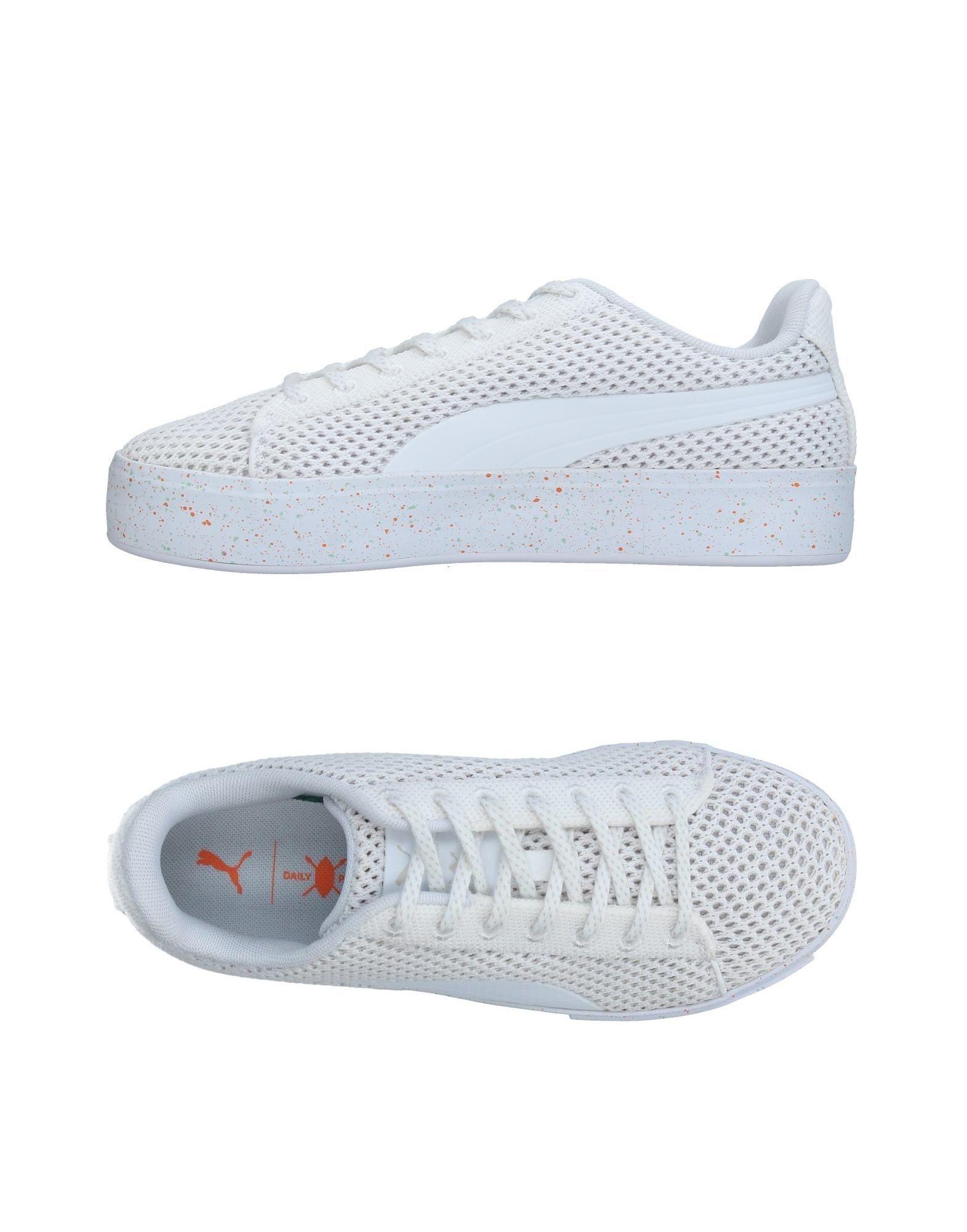 《送料無料》PUMA X DAILY PAPER レディース スニーカー&テニスシューズ(ローカット) ホワイト 4.5 紡績繊維