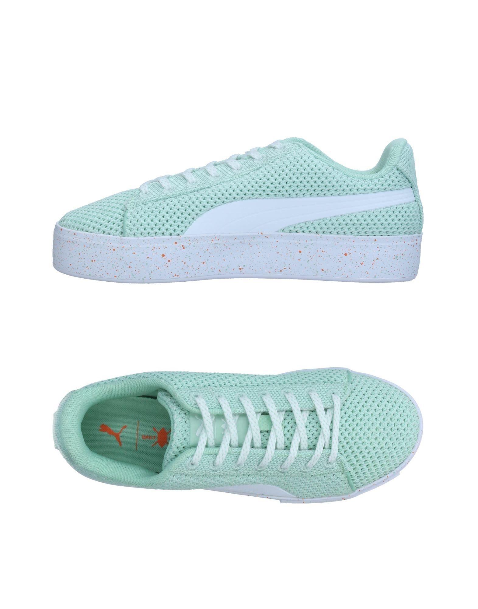 《送料無料》PUMA X DAILY PAPER レディース スニーカー&テニスシューズ(ローカット) ライトグリーン 7 紡績繊維