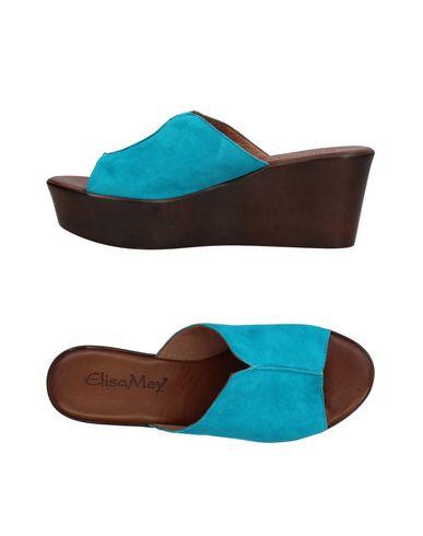 Фото - Женские сандали ELISA MEY® бирюзового цвета