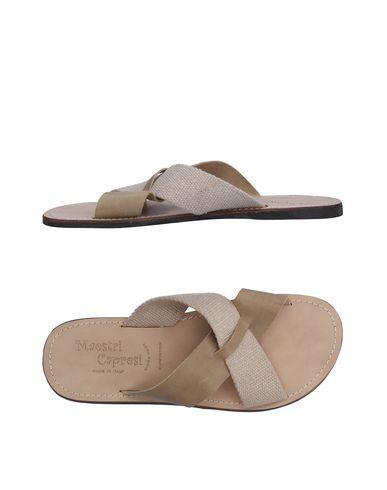 Фото - Мужские сандали MAESTRI CAPRESI бежевого цвета