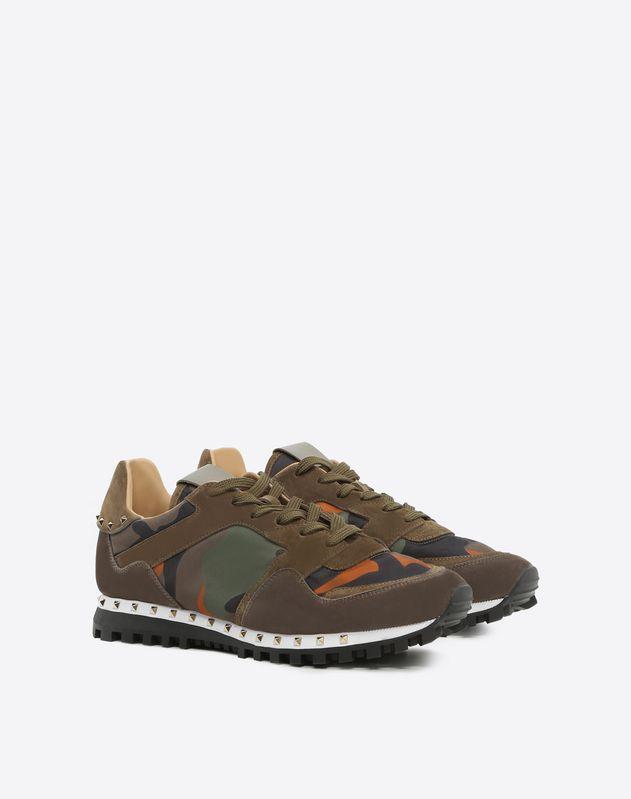 Camouflage Sole Stud Sneaker