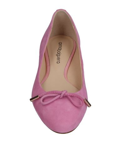 Фото 2 - Женские балетки  розового цвета