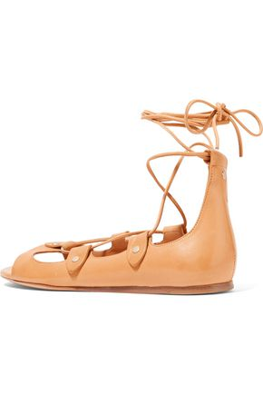 ISABEL MARANT Alisa lace-up leather sandals