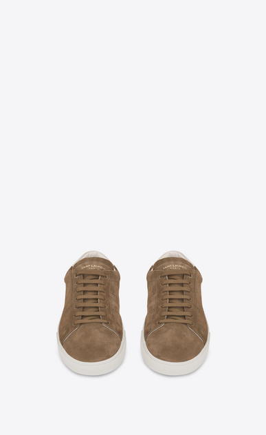 SAINT LAURENT SL/06 U signature court classic sl/06 sneaker in light tobacco suede and off white leather b_V4