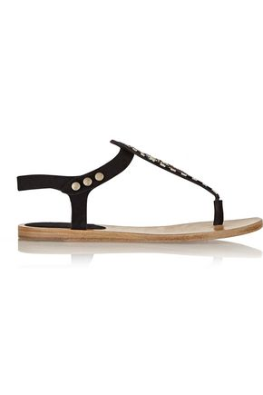 ISABEL MARANT Bead-embellished suede sandals