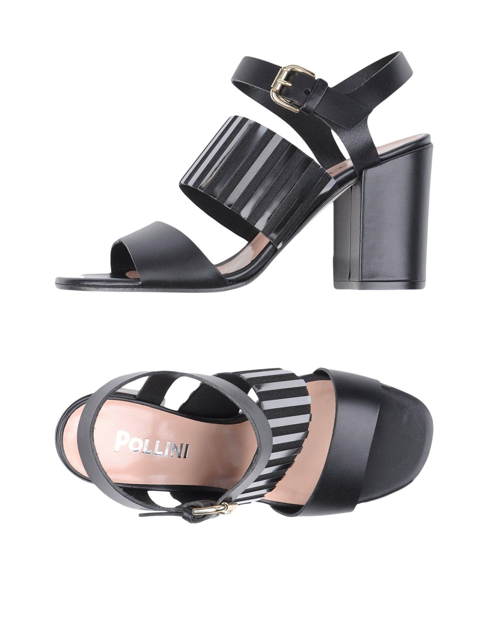 POLLINI Damen Sandale Farbe Schwarz Größe 9