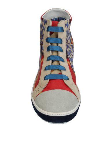 Фото 2 - Высокие кеды и кроссовки от SOISIRE SOIEBLEU красного цвета