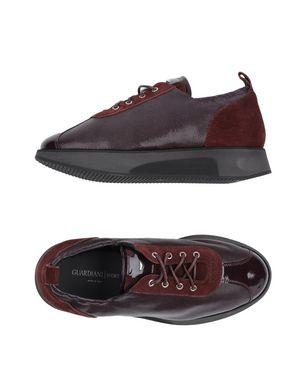 GUARDIANI SPORT Damen Low Sneakers & Tennisschuhe Farbe Pflaume Größe 9