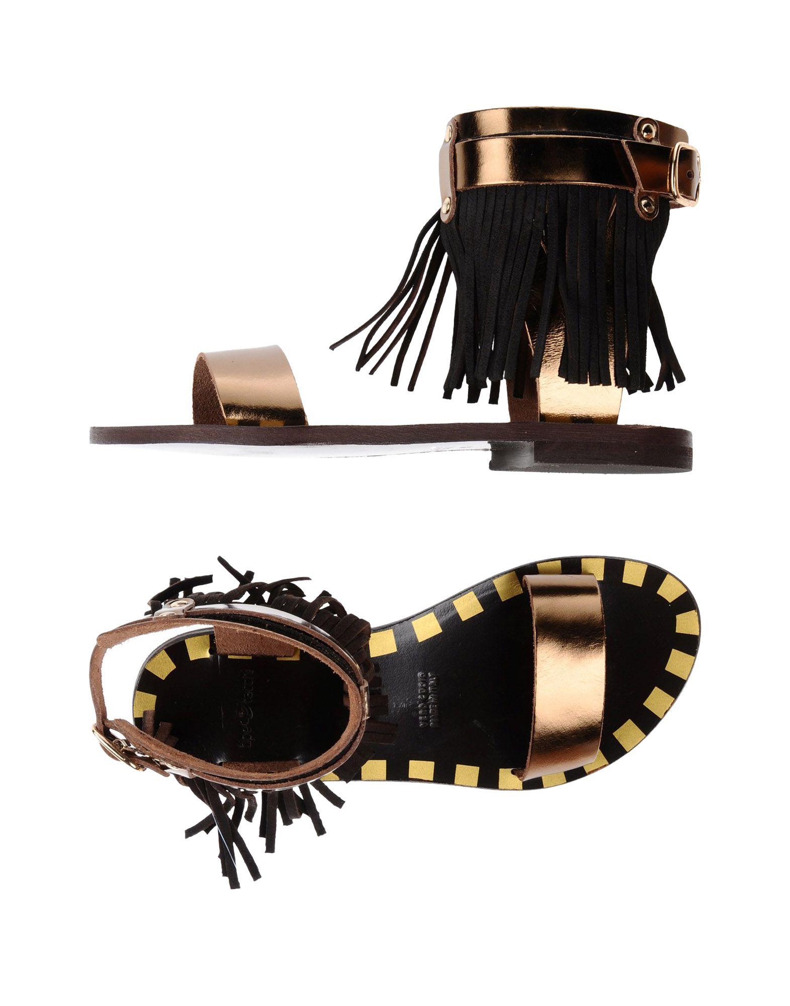 TIPE E TACCHI Damen Sandale Farbe Bronze Größe 9 jetztbilligerkaufen