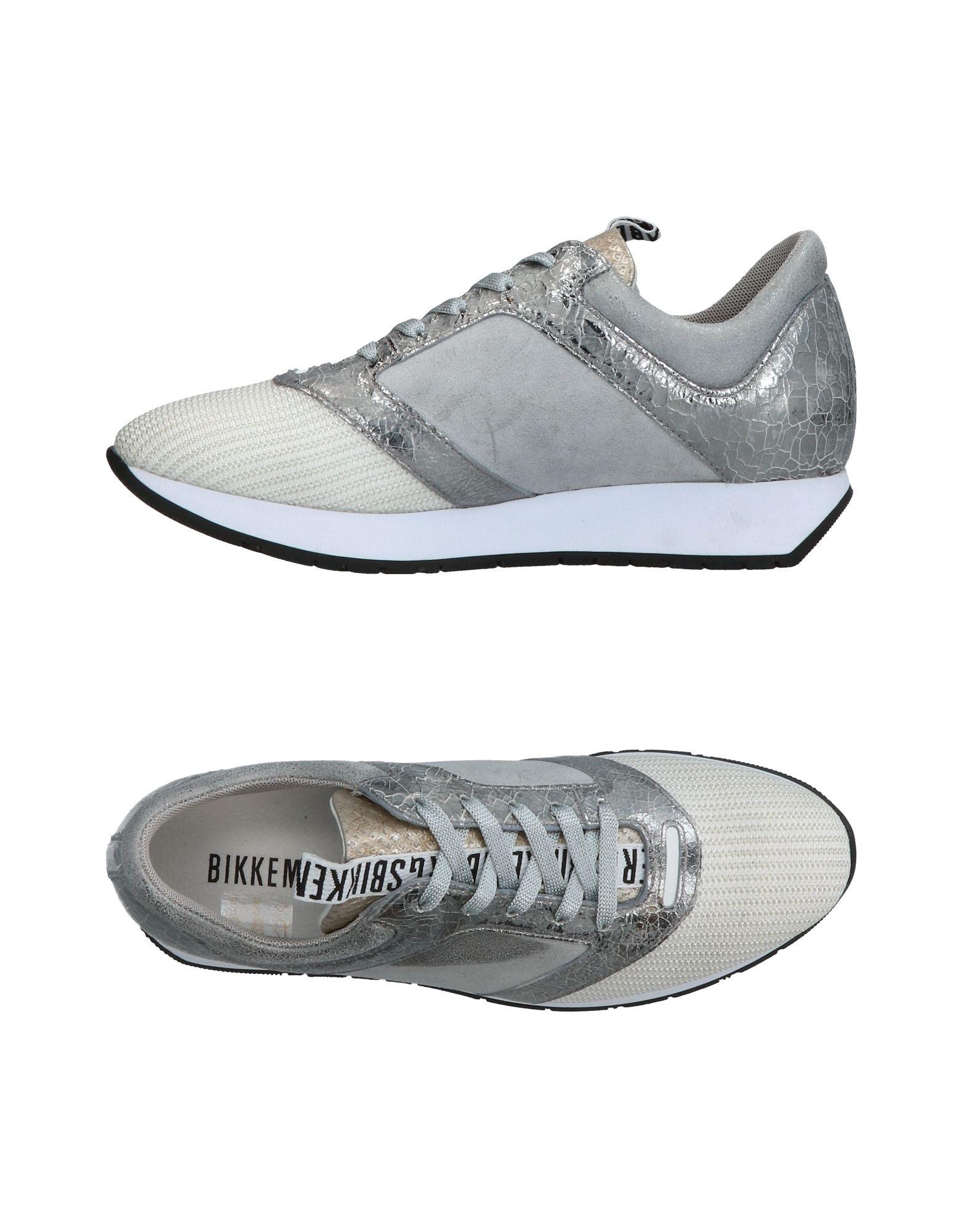 BIKKEMBERGS Damen Low Sneakers & Tennisschuhe Farbe Grau Größe 7 jetztbilligerkaufen