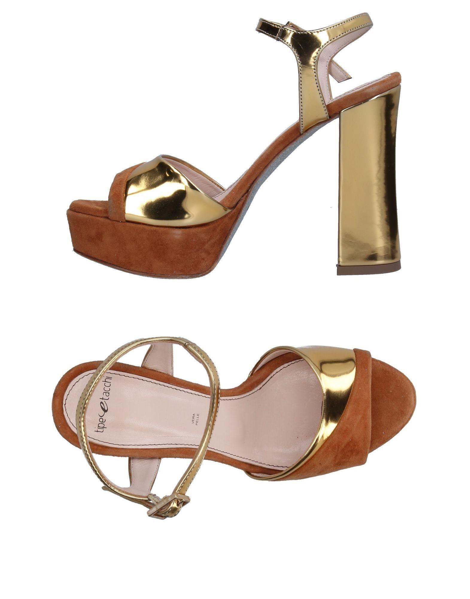 TIPE E TACCHI Damen Sandale Farbe Gold Größe 9 jetztbilligerkaufen