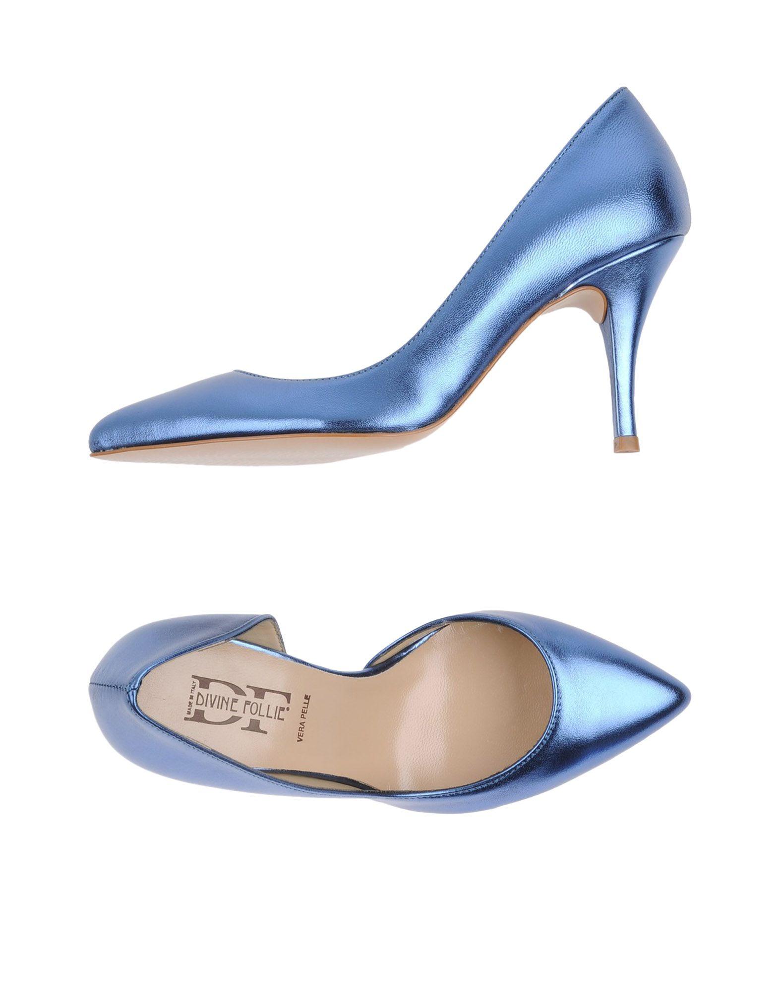 DIVINE FOLLIE Damen Pumps Farbe Blau Größe 11 jetztbilligerkaufen
