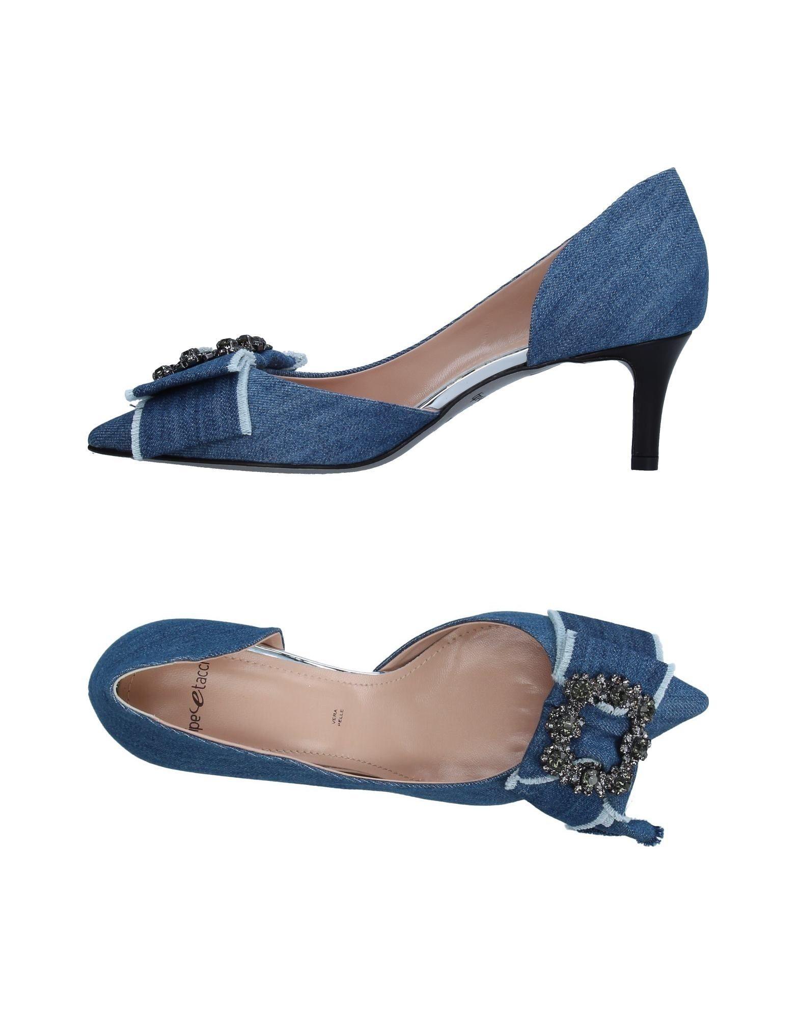 TIPE E TACCHI Damen Pumps Farbe Blau Größe 9 jetztbilligerkaufen