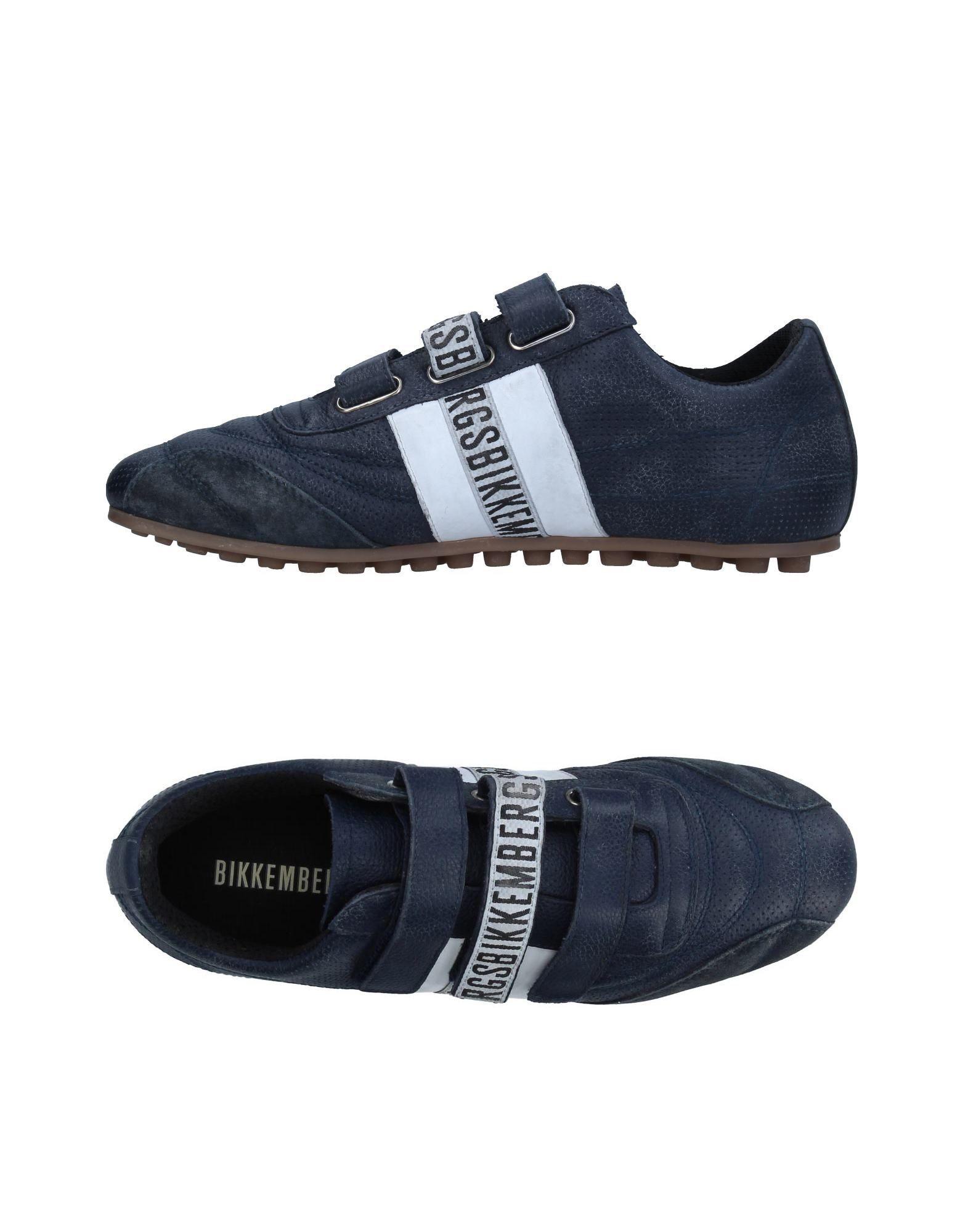 BIKKEMBERGS Herren Low Sneakers & Tennisschuhe Farbe Dunkelblau Größe 3 jetztbilligerkaufen