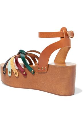 ISABEL MARANT ÉTOILE Zia textured-leather platform wedge sandals