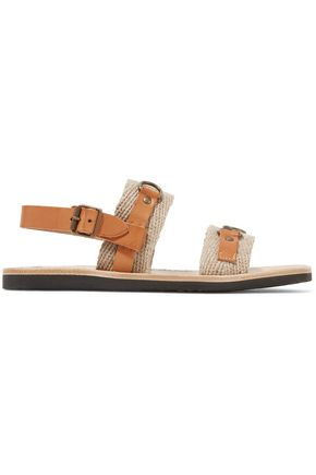 9c25d551aa4 Jess paneled leather and woven sandals | ISABEL MARANT ÉTOILE | Sale ...
