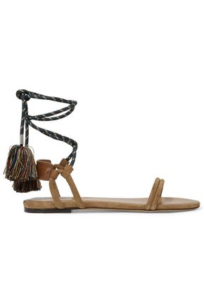 ISABEL MARANT Astrid tasseled leather-trimmed suede sandals