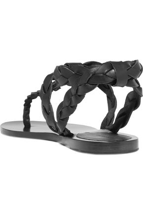 ISABEL MARANT Brina braided leather sandals