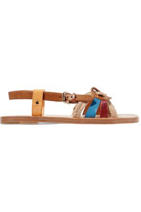 ISABEL MARANT ÉTOILE Jeana woven raffia and leather sandals