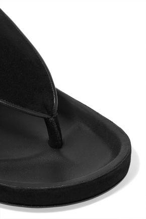ISABEL MARANT Lee tassel-embellished suede and leather sandals