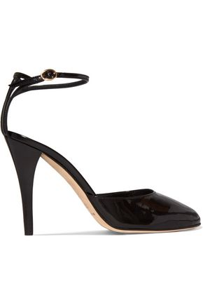 VANESSA SEWARD Cutout patent-leather pumps
