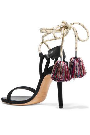 ISABEL MARANT Alois tasseled leather-trimmed suede sandals