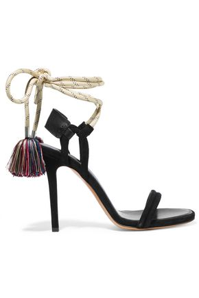 ISABEL MARANT Alois tasseled leather-trimmed suede sandals