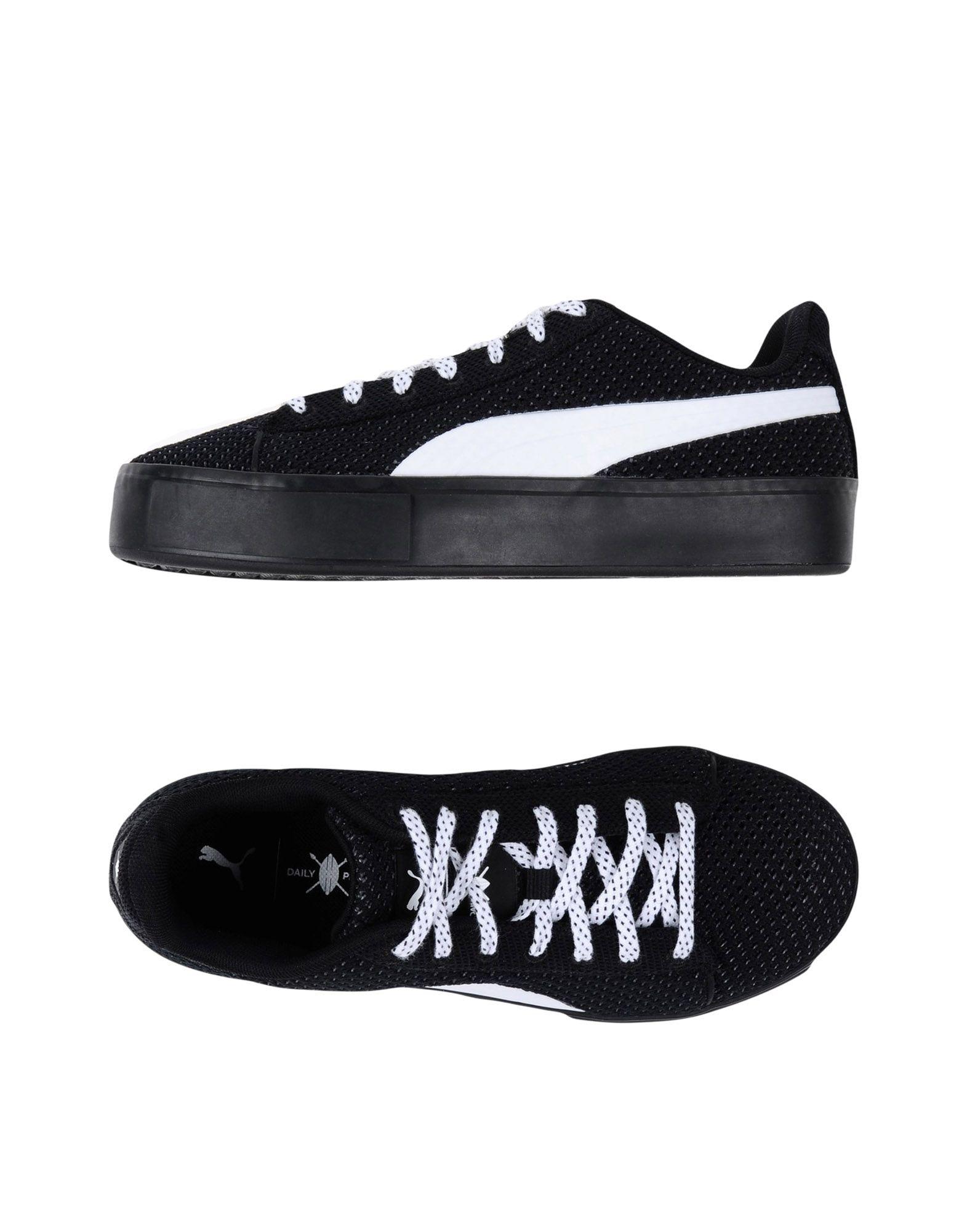 《送料無料》PUMA X DAILY PAPER メンズ スニーカー&テニスシューズ(ローカット) ブラック 4 紡績繊維