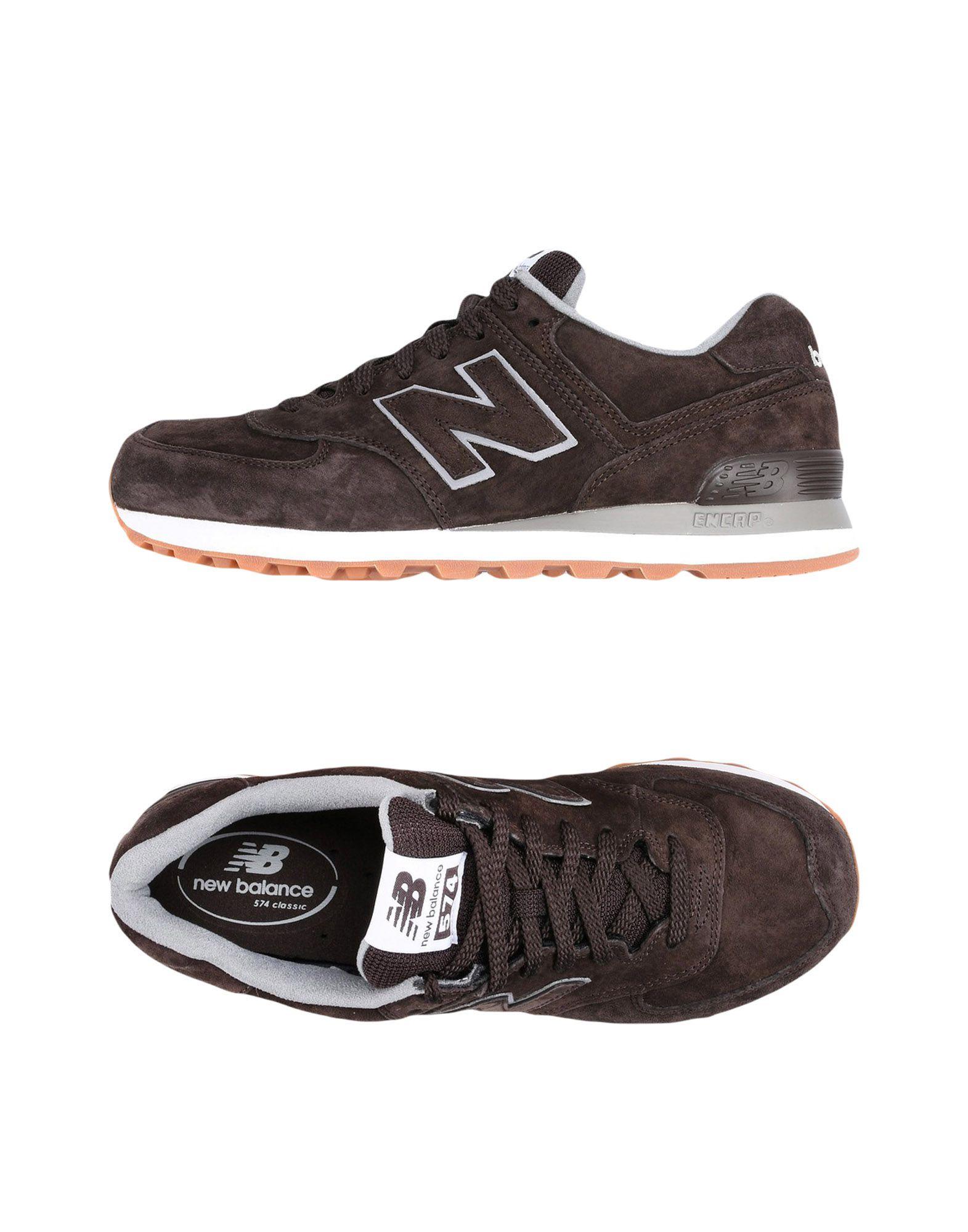 NEW BALANCE Низкие кеды и кроссовки кроссовки мужские new balance 574 цвет синий ml574ess d размер 10 43