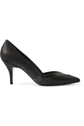 PIERRE HARDY Paneled leather pumps