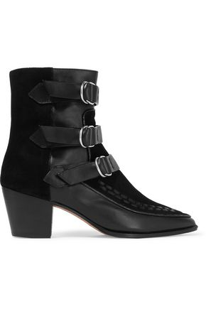 ISABEL MARANT Dickey leather and suede boots