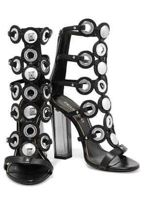 EMILIO PUCCI Embellished leather sandals