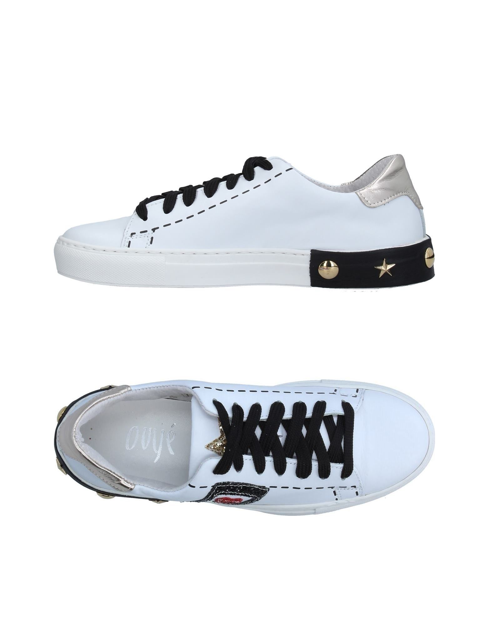OVYE´ by CRISTINA LUCCHI Damen Low Sneakers & Tennisschuhe Farbe Weiß Größe 9