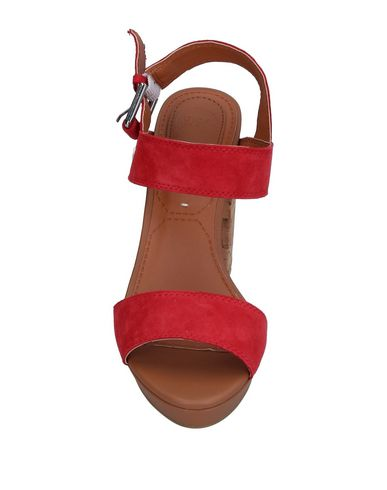 Фото 2 - Женские сандали  кораллового цвета