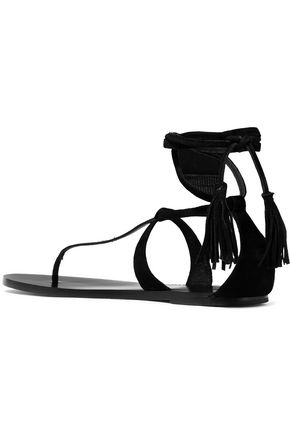 ISABEL MARANT Ann tasseled lace-up suede sandals