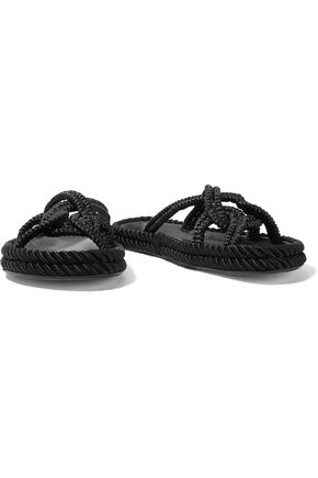 ISABEL MARANT Lyvie braided cord slides